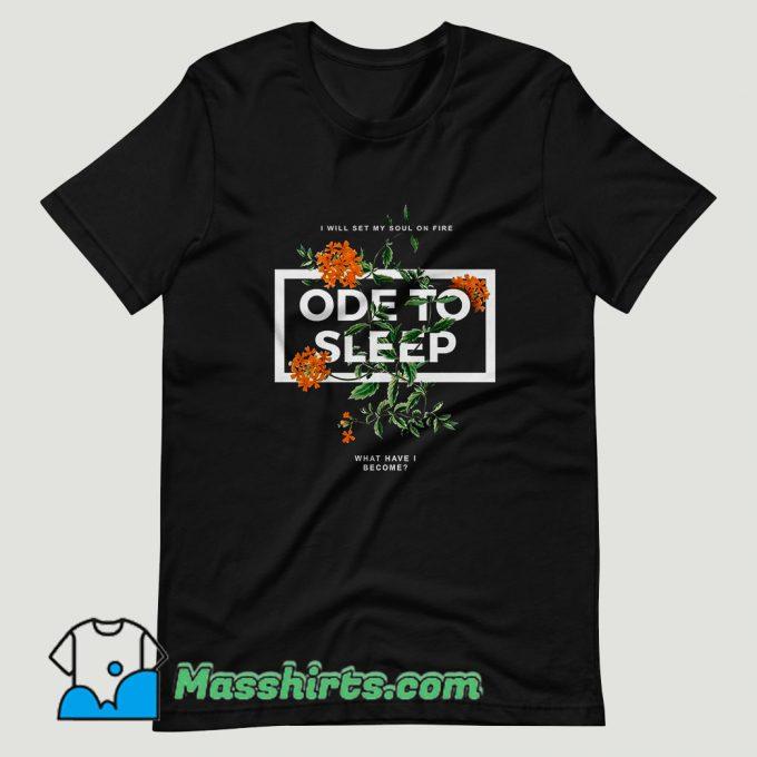 Ode To Sleep Rose T Shirt Design