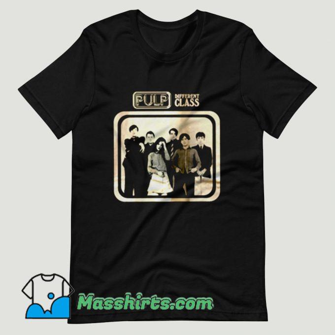 Pulp Different Class Britpop T Shirt Design
