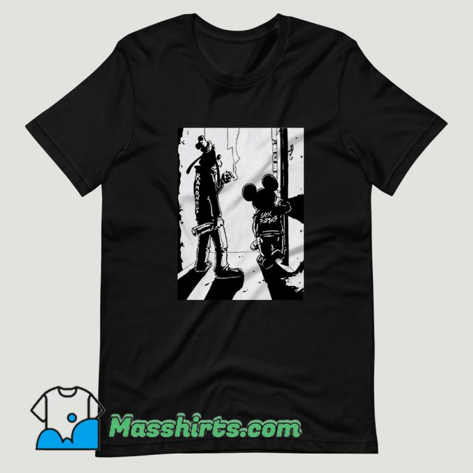 Punk Rock Goofy and Mickey T Shirt Design