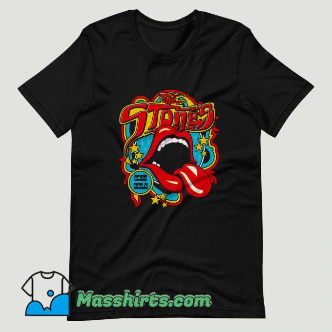 Rolling Stones Vintage Tongue T Shirt Design