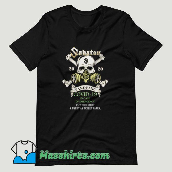 Sabaton 2020 Pandemic Covid 19 T Shirt Design