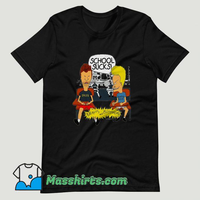 School Sucks Beavis T Shirt Design