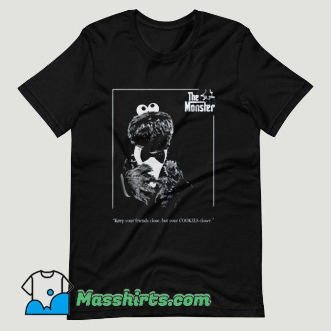 Sesame Street The Monster Godfather T Shirt Design