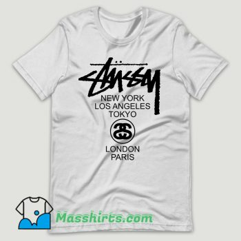 Stussy World Tour T Shirt Design