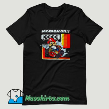 Super Mario Kart Checkered T Shirt Design