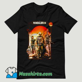 The Mandalorian Vintage Movie T Shirt Design