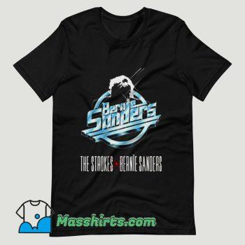 The Strokes x Bernie Sanders T Shirt Design