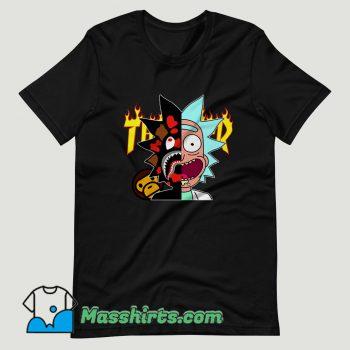 Thrasher Bape Rick Morty T Shirt Design