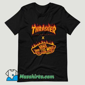 Thrasher x Vans Flame Collaboration T Shirt Design