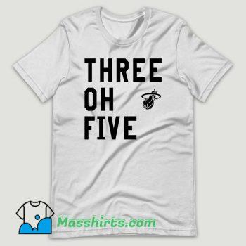 Three Oh Five Miami Heat T Shirt Design