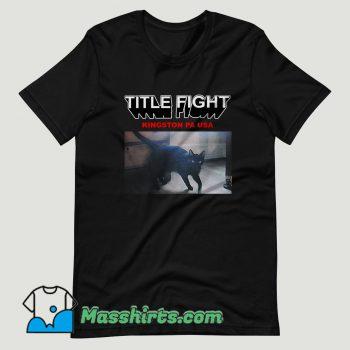Title Fight Kingston Cat T Shirt Design