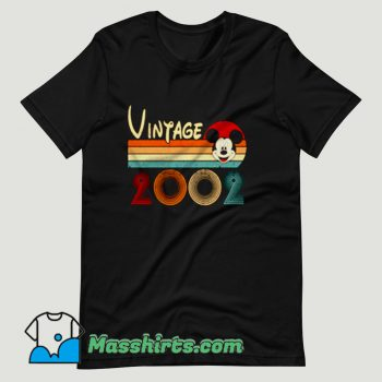Vintage 2002 Mickey Mouse 18th T Shirt Design