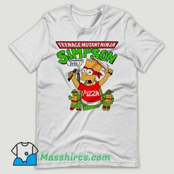 Vintage 90's Bart Simpson TMNT Teenage Mutant Ninja Turtles T Shirt Design
