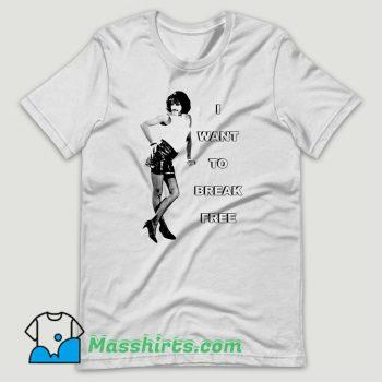 Vintage I Want To Break Freddie Mercury Queen T Shirt Design