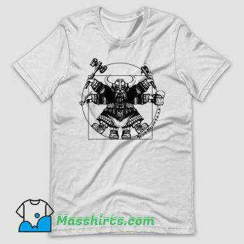 Vitruvian Dwarf White T Shirt Design