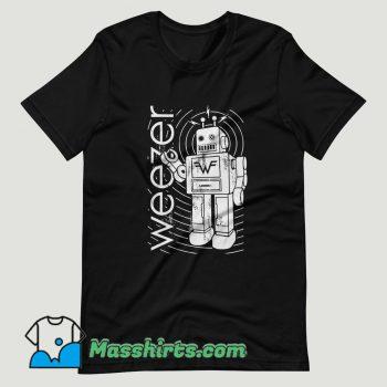 Weezer Robot T Shirt Design
