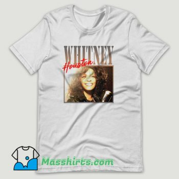 Whitney Houston Biography T Shirt Design