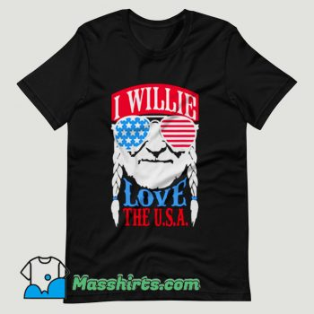 Willie Nelson Love The USA T Shirt Design