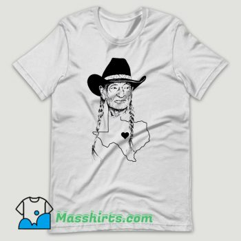 Willie Nelson Texas Love T Shirt Design