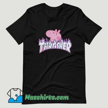thrasher Peppa Pig cute T Shirt Design