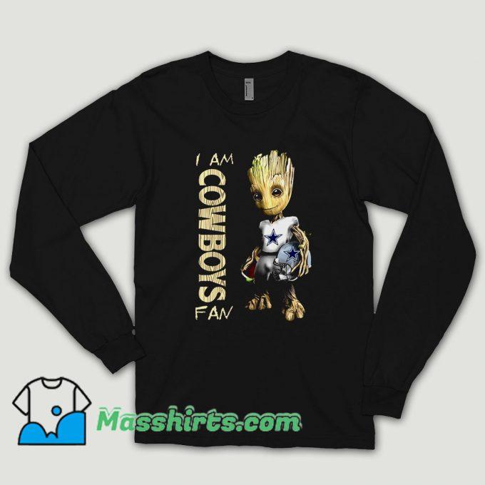 Baby Groot I Am Dallas Cowboys Long Sleeve Shirt