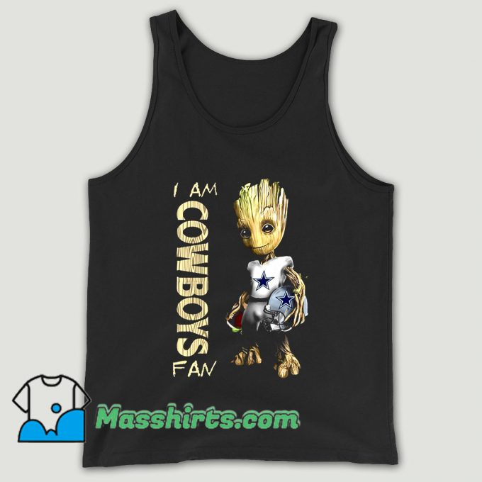 Baby Groot I Am Dallas Cowboys Unisex Tank Top