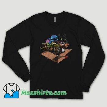 Baby Yoda Baby Stitch Baby Night Fury And Baby Groot In The Box Long Sleeve Shirt