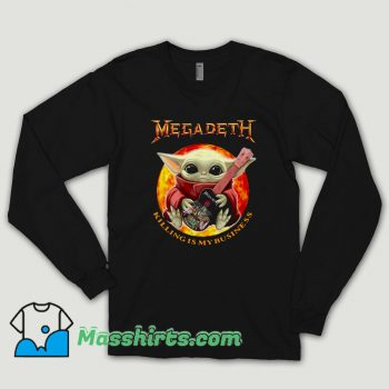 Baby Yoda Hug Guitar Megadeth Killing Is My Business Long Sleeve Shirt