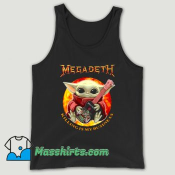 Baby Yoda Hug Guitar Megadeth Killing Is My Business Unisex Tank Top