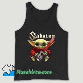 Baby Yoda Hug Guitar Sabaton Unisex Tank Top