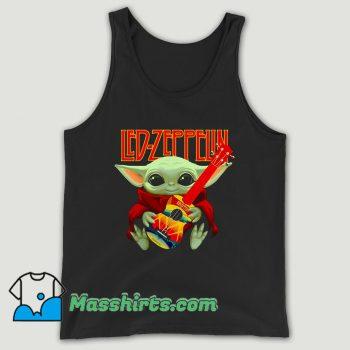 Baby Yoda Hug Ledzeppelin Guitar Unisex Tank Top