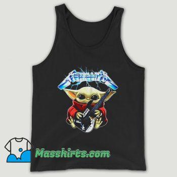 Baby Yoda Hug Metallica Guitar Unisex Tank Top