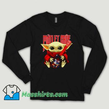 Baby Yoda Hug Motley Crue Long Sleeve Shirt