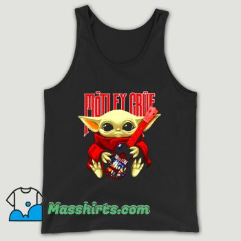 Baby Yoda Hug Motley Crue Unisex Tank Top