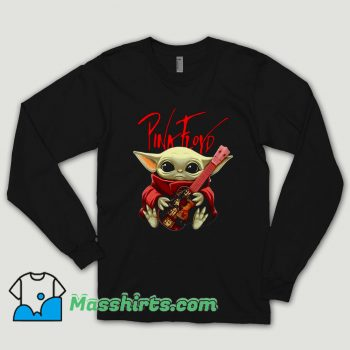 Baby Yoda Hug Pink Floyd Guitar Long Sleeve Shirt