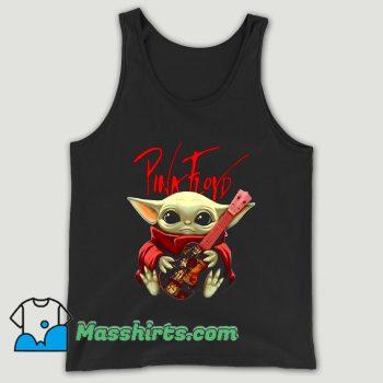 Baby Yoda Hug Pink Floyd Guitar Unisex Tank Top