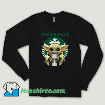 Baby Yoda Hug Starbucks Long Sleeve Shirt