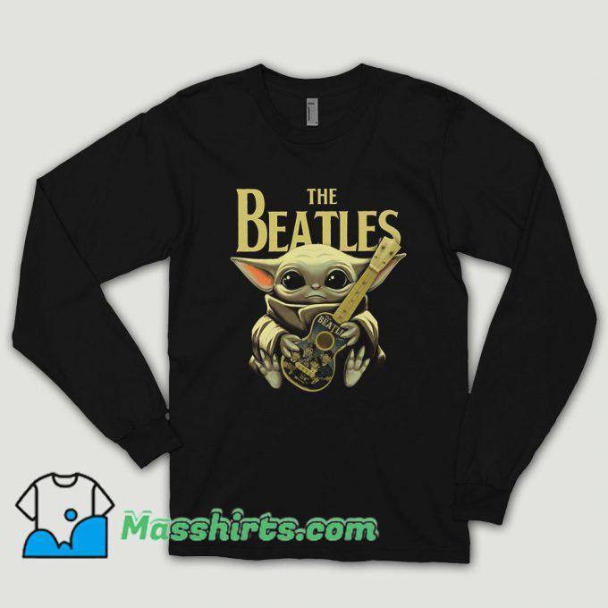 Baby Yoda Hugs The Beatles Long Sleeve Shirt
