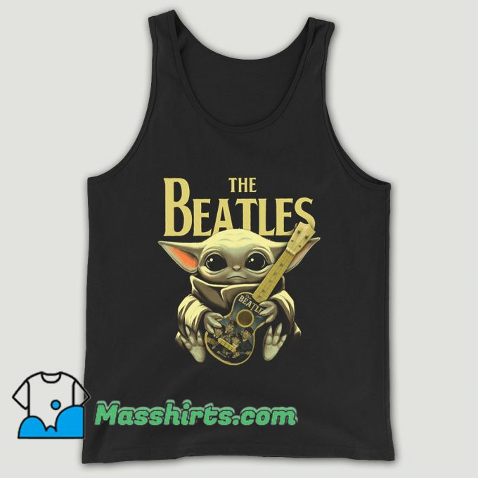Baby Yoda Hugs The Beatles Unisex Tank Top