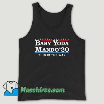 Baby Yoda Mando 2020 Unisex Tank Top