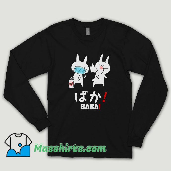 Baka Rabbit Slap Mask Covid 19 Long Sleeve Shirt