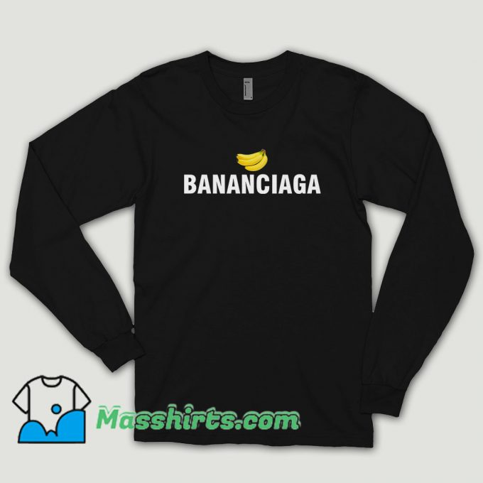 Bananaciaga Balenciaga Black Long Sleeve Shirt