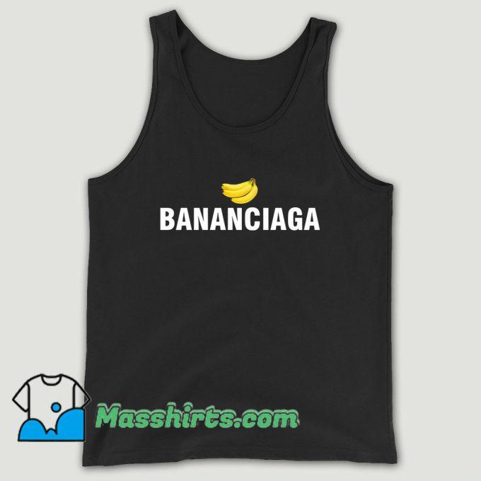 Bananaciaga Balenciaga Black Unisex Tank Top