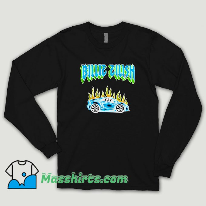 Billie Eilish Car Flames Tour Long Sleeve Shirt