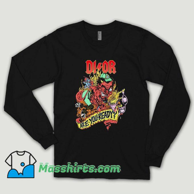 Bleached Goods Devilish Grin Long Sleeve Shirt