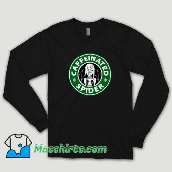 Caffeinated Spider Long Sleeve Shirt