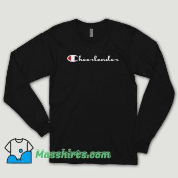 Cheerleader Champion Logo Black Long Sleeve Shirt