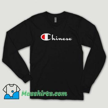 Chinese Champion Long Sleeve Shirt