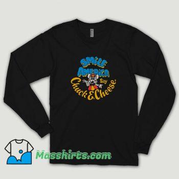 Chuck E Cheese Smile America Long Sleeve Shirt