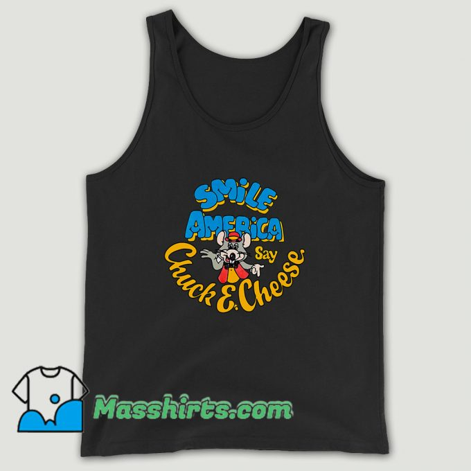 Chuck E Cheese Smile America Unisex Tank Top